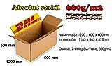 1 x DHL Faltkartons 1200x600x600 mm Versandkarton Postkarton 2-WELLE BC-660g