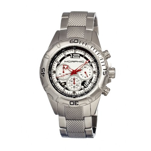 Morphic mph1701–Montre de Poignet pour homme, bracelet en acier inoxydable couleur argent