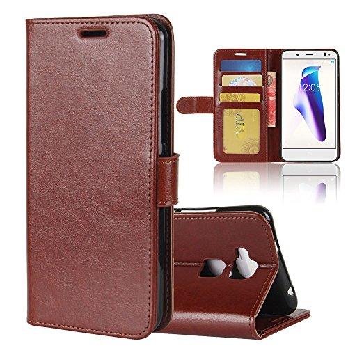 jbTec Handy-HÜLLE SCHUTZHÜLLE passend für BQ Aquaris V/VS - Flip-Case Cover Handy-Tasche Klapp-Tasche Etui Klapphülle, Farbe:Braun