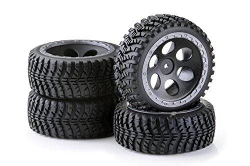 Carson 500900612 - 1:10 Räderset Buggy-Desert, 4 Stück (12mm Rc Reifen Und Räder)