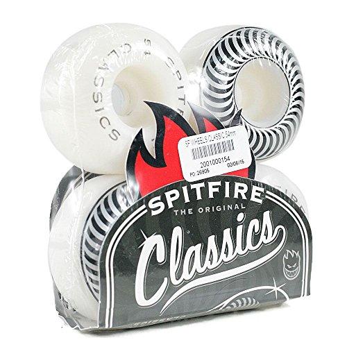 Pro-skateboards-räder (Spitfire Classic Pro Skateboard Wheels Weiß 54MM)