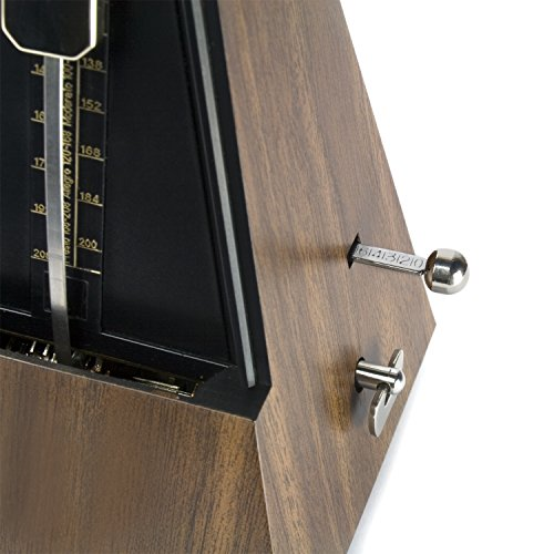 Theodore Wooden Mechanical Metronome - Classic Pyramid Style - Ideal for use with Keyboards and Pianos