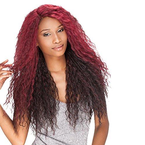 Value Pack Cut Outs (Sensationnel Elegante Kunsthaar Perücke EMPRESS lace front wig TESSE L-Shape Part, Farbe:DX4799 (Rot/Violett)OMBRE)