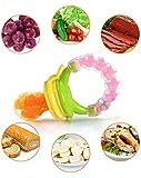 SCHNULLER 3-IN-1 BABY FRUCHTSAUGER INNOV4TO: Schnuller, Spielzeug & Fruchtsauger in einem mit Schutzkappe, BPA-frei, Fruchtschnuller zum Verzehr von Obst, Gemüse & sonstigen Lebensmitteln