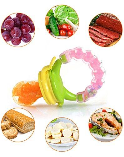 Preisvergleich Produktbild SCHNULLER 3-IN-1 BABY FRUCHTSAUGER FRUCHTSCHNULLER INNOV4TO: Schnuller, Spielzeug & Fruchtschnuller in einem mit Schutzkappe