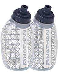 Nathan Fire & Ice Thermosflaschen 4580NC mit Reflektorstreifen, transparent, 235 ml, 2 Stück