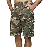 Jet Lag Shorts Take off 3 kurze Hose in charcoal cement schwarz olive camouflage (32, army green camo)