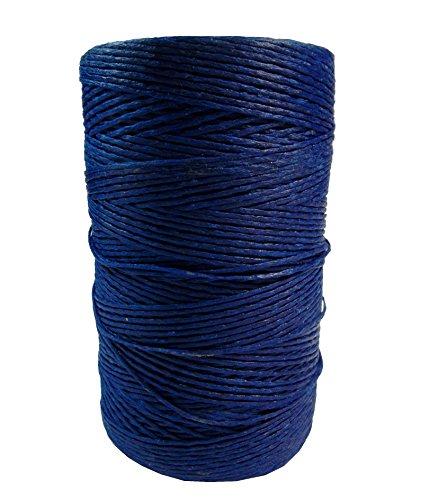 Perlin - 10m Wachsband 1,5mm Sattlergarn Royal Blau Geflochtet 100% Polyester Forellenfäden Nähen Handwerk C316 x2