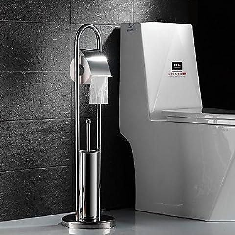 Soporte para Papel Higiénico / Soporte para Cepillo de Baño Acero Inoxidable De Pie 810*215mm(31.49*8.46inch) Acero