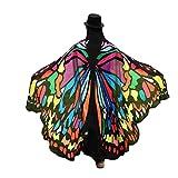 Lnefehsh Lenfesh Atractiva Eye-Catching Gigantes Chal de alas de mariposa Disfraz de desfile de fiesta de hadas elfo,197 x 125CM (Multicolor)