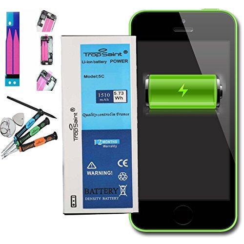 Trop Saint Akku für iPhone 5C - 1510mAh/3,8V mit Werkzeug und Sticker (Batterie Ersatz Oem Apple)