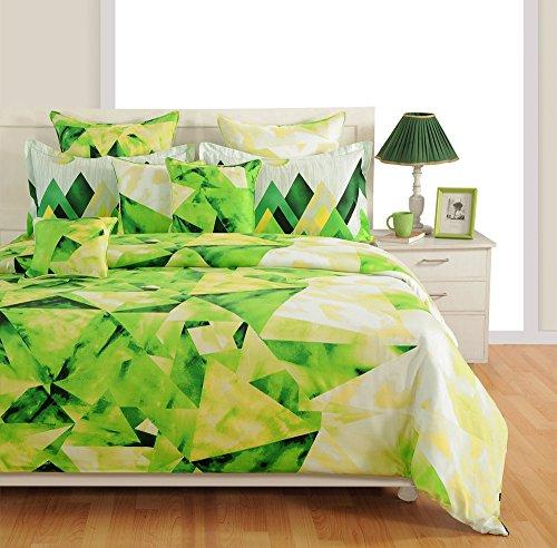 Yuga 8 Stücke im Beutel grünen Baumwollmaterial Deckbetbettwäsche Satz Satz Bett (8 Stück-bett-satz)
