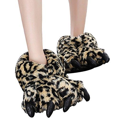 Unisex Plush Claw animali molli accoglienti pantofole a casa Thermal Scarpe Costume pantofole zampa da chela GOMNEAR