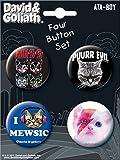 Ata-Boy David and Goliath Mew-sical Cats 4 Button Set