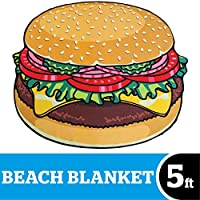 Gigantic Burger Beach Blanket Nom Nom Nom Nom... Our giant-sized burger beach blanket is a tasty way to lounge at the beach Plus, when you get out of the water you canuse it to dry off before you go to the concession stand and order the real...