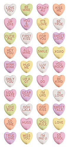 Papier House PRODUCTIONS Sweetheart Candies 3D 'Puffy Sticker, Kunststoff, mehrfarbig