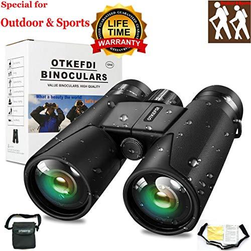 OTKEFDI Binocolo,Binocoli Compatto per Adulti Sport e Binocoli da Esterno Caccia al Birdwatching Binocolo-12X42 Binocolo Compatto per Adulti Focus Binocolo Compatto Regolabile, binocolo Nero