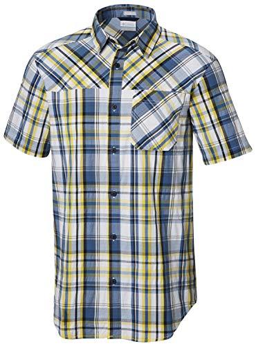 Columbia Thompson Hill Herren Hemd, kurzärmelig - Blau - XX-Large -