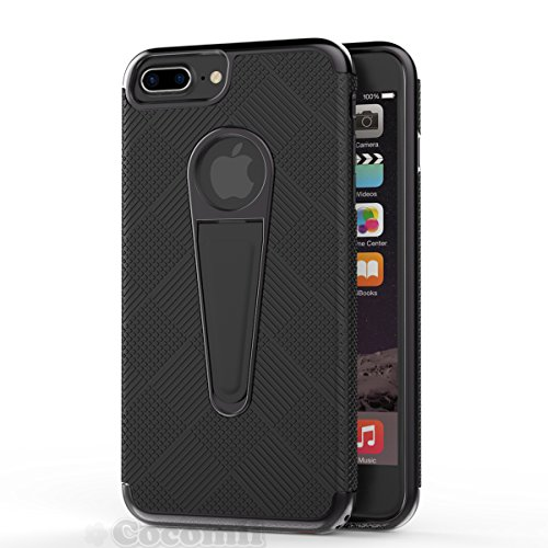 iPhone 8 Plus / 7 Plus Coque, Cocomii Angel Armor NEW [Heavy Duty] Premium Tactical Grip Kickstand Shockproof Hard Bumper Shell [Military Defender] Full Body Dual Layer Rugged Cover Case Étui Housse A Full Black