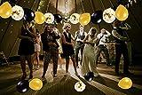 MMTX Luftballons Schwarz Gold Ballons 45 Stück Silvester Luftballons, Ballons Gold mit Gold Konfetti Luftballon für Damen Herren Geburtstag Deko, Deko Silvester 2019, Abschluss Halloween Party - 5