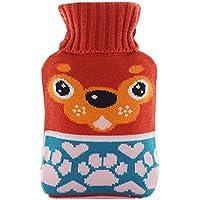 Warme einfache klassische Gummi kalte Heißwasserflasche 1 Liter mit netten Knit-Abdeckung#18 preisvergleich bei billige-tabletten.eu