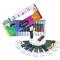 Artina Set da 12 colori acrilici Crylic da 12ml - colori intensi alta pigmentazione - per artisti accademia belle arti