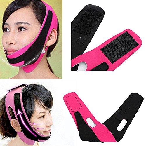 Anti-Falten Maske für Gesicht und Kinn, reduziert & formt Doppelkinn, strafft Haut für ein junges Aussehen -