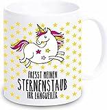 """Einhorn Tasse """"Fresst meinen Sternenstaub Ihr Langweiler"""" - Kaffeebecher Geschirr"""