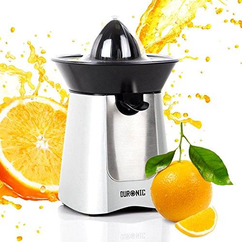 Duronic JE6/SR exprimidor eléctrico Compact en acero inoxidable de 100W–Pico vertedor–2conos–Ideal para zumo de naranja/de limones/de frutas