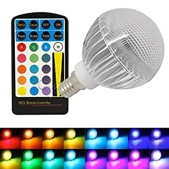 jndee tm dimmable rgb 5 w culot petite vis edison e14 ampoule led de couleur changeante avec. Black Bedroom Furniture Sets. Home Design Ideas