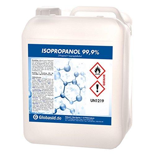 Isopropanol 99,9% 10 Liter Isopropylalkohol 2-Propanol Reinigungsmittel für Haushalt und Industrie Lösungsmittel und Fettlöser Lack- und Farb-Entferner Nagellack-Entferner Oberflächen-Reiniger