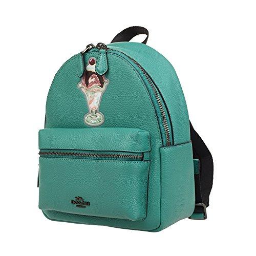 Coach Womens Mini Leather Backpack F28488 (Green)