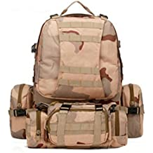 Mochila militar - TOOGOO(R) Mochila multifuncional de senderismo militar de ejercito de 55L