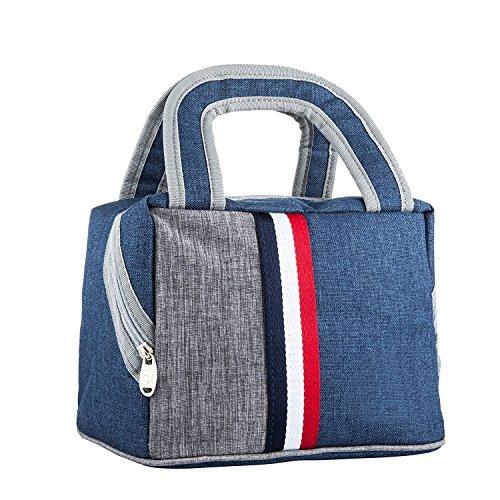 Acelec borsa da pranzo con borchie da pranzo isolate borsa portafogli con zip chiusura riutilizzabile tasca posteriore pocket lunch organizer portabicchiere borsa da pranzo con frigorifero borsa da pranzo con frigorifero borsa da pranzo per donne, uomini