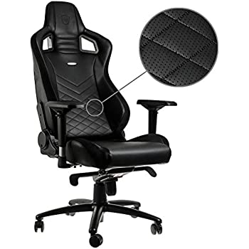 noblechairs epic gaming chair black with vegan friendly pu leather 2 year warranty up to 180kg users perfect for an executive office chair