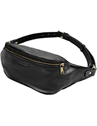 Padieoe Genuine Leather Waist Bag Portable Fanny Pack Tactical Waist Pack Hiking Waist Packs Sports Fanny Pack...