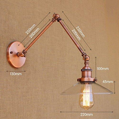 YJNB Loft Di Vetro Illuminazione Industriale Retro Vintage Lampada Da
