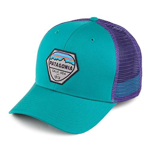casquette-trucker-en-coton-bio-fitz-roy-hex-bleu-sarcelle-patagonia-ajustable