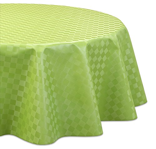 Wachstuchtischdecke OVAL RUND ECKIG Motiv u. Größe wählbar, Tischdecke abwischbar (Oval 140x220 cm Reliefdruck - Quader Grün) (Große, Runde Tischdecken)
