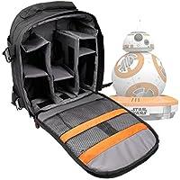 """Sac à dos noir résistant à l'eau pour robot Sphero Drone BB-8 de Star Wars VII """"Le Réveil de la Force"""" et sa radiocommande - poignée et lanières rembourrées"""
