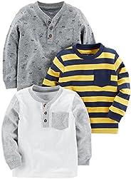 Simple Joys by Carter's - Maglietta a maniche lunghe per bambini, confezione