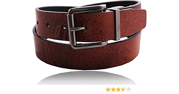Timberland Mens 35MM Volcano Leather Reversible Belt Black-Brown