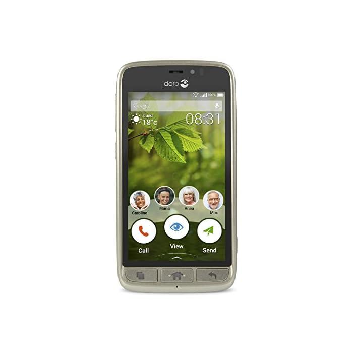 Doro 8031 4G Smartphone (11,4 cm (4,5 Zoll), LTE, 5 MP Kamera, Android 5.1) 1