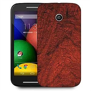 Snoogg Abstract Wood Color Designer Protective Phone Back Case Cover For Motorola E / Moto E