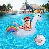 Unicornio hinchable colchonetas piscina Inflable flotador unicornio piscina para Hinchables Juguete para fiesta de piscina