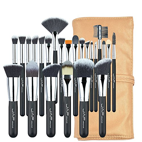 YQXR Make-up Pinsel, Neue 24 stücke Professionelle Make-Up Pinsel Set Hohe Qualität Make-Up Pinsel Volle Funktion Studio Synthetische Make-up-Tool Kit J2404YC-B -
