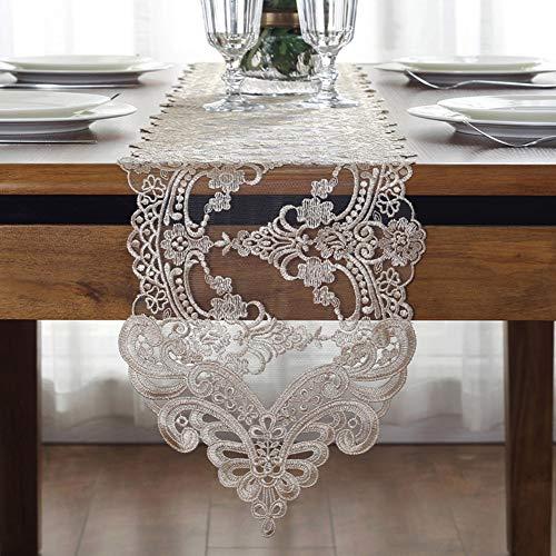 ufer, Tischband Dreidimensional Stickerei Prinzessin Europäischer Stil,26x120cm ()