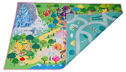 HOK Spielfläche Doppelseitig - 2 in 1 Stadt und Prinzessin