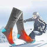 LWYANG Sports de Plein air Vélo Ski Chaussettes Batterie Rechargeable Chaussettes chauffantes électriques Botte d'hiver Réchauffeur de Pieds Accessoires de vélo