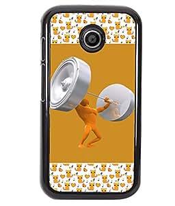 PrintVisa Metal Printed Crazy Designer Back Case Cover for Motorola Moto E/ E Dual sim -D4735